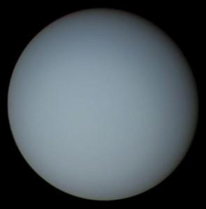 宇宙情報センターのサイトより  探査機「ボイジャー2号」が撮影した天王星 (c)NASA/JPL uranus